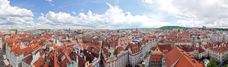 панорама Праги стоковые фотографии rf