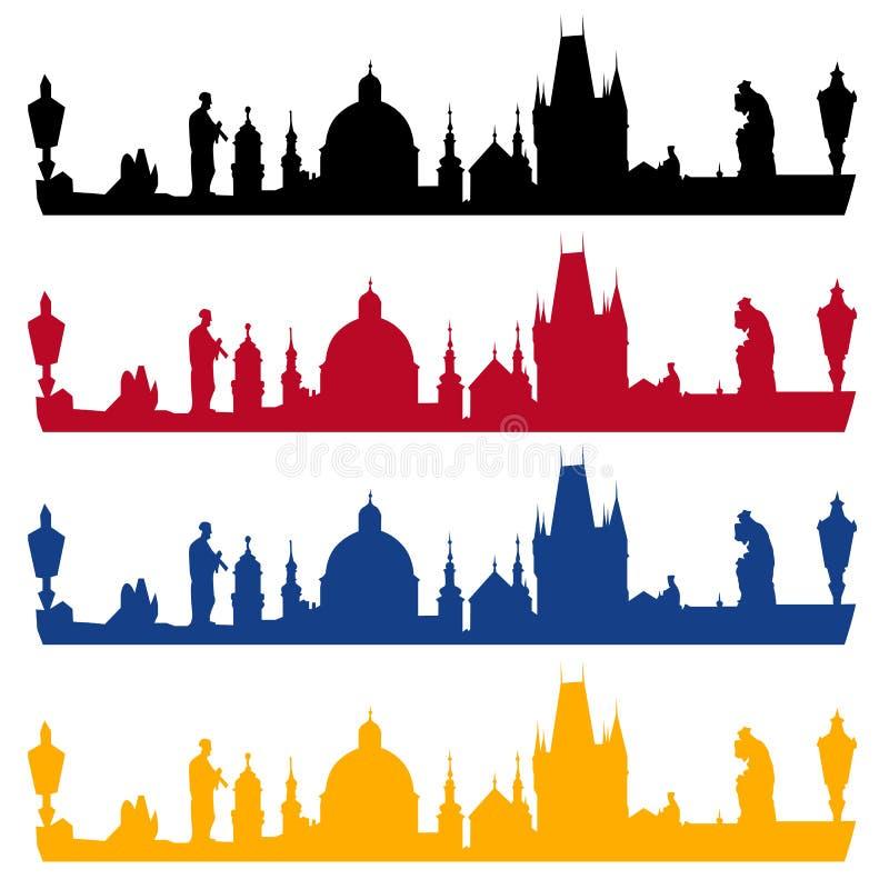 Панорама Праги бесплатная иллюстрация