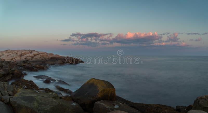 Панорама прибрежной сцены на бухте Peggys стоковая фотография