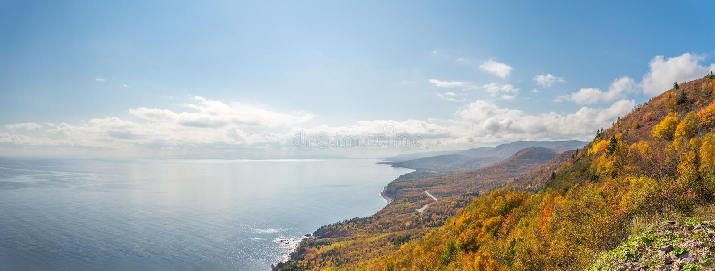 Панорама прибрежной сцены стоковые изображения rf