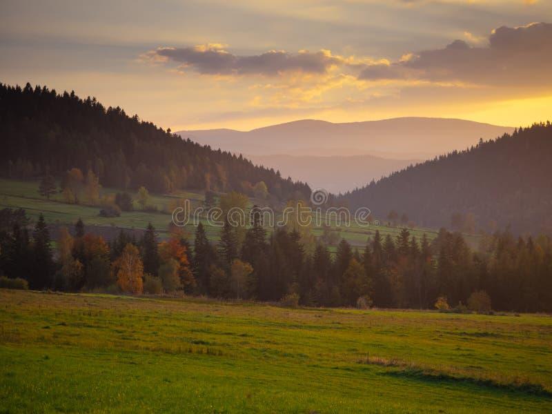 панорама природы горы ландшафта красотки стоковые фото
