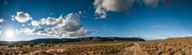 Панорама пустыни стоковое изображение