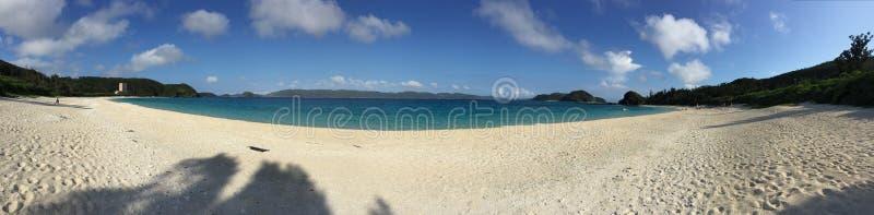 Панорама пляжа Furuzamami стоковые фото