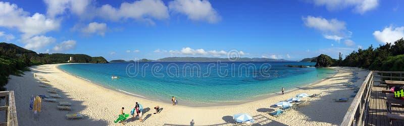 Панорама пляжа Furuzamami стоковые изображения rf