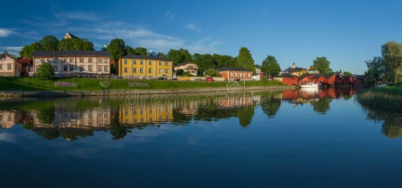 Панорама реки Porvoo стоковые фотографии rf