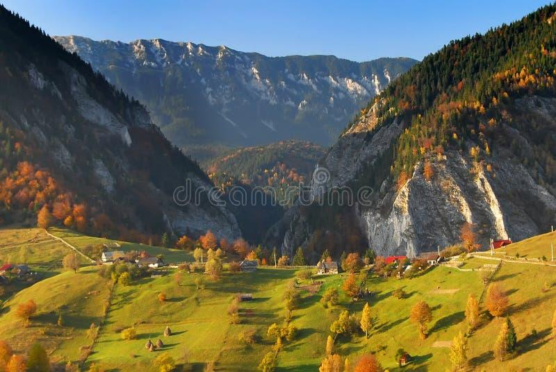 панорама Румыния ландшафта осени стоковое изображение