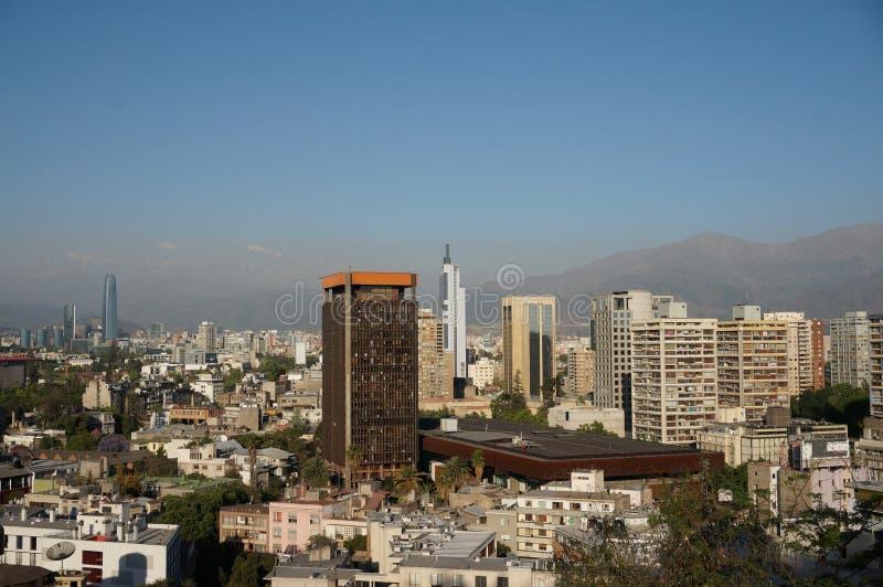 Панорама Сантьяго de Чили стоковое фото rf