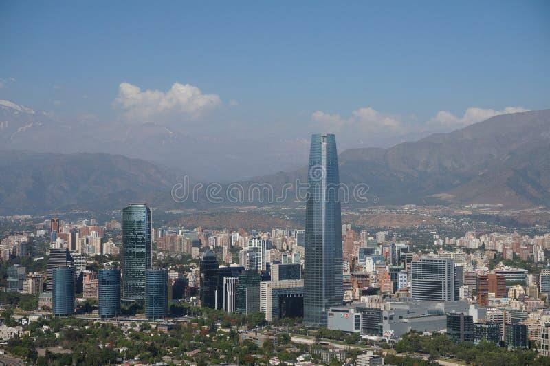 Панорама Сантьяго de Чили стоковые изображения