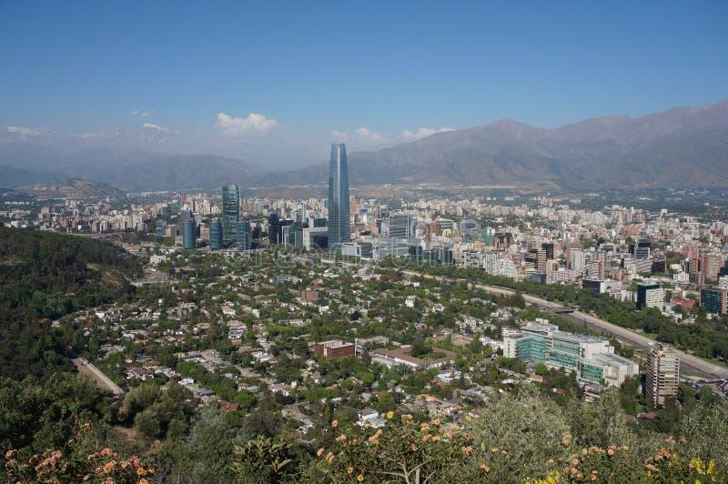 Панорама Сантьяго de Чили стоковое изображение
