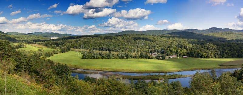 Панорама сельской местности Вермонта стоковые фотографии rf