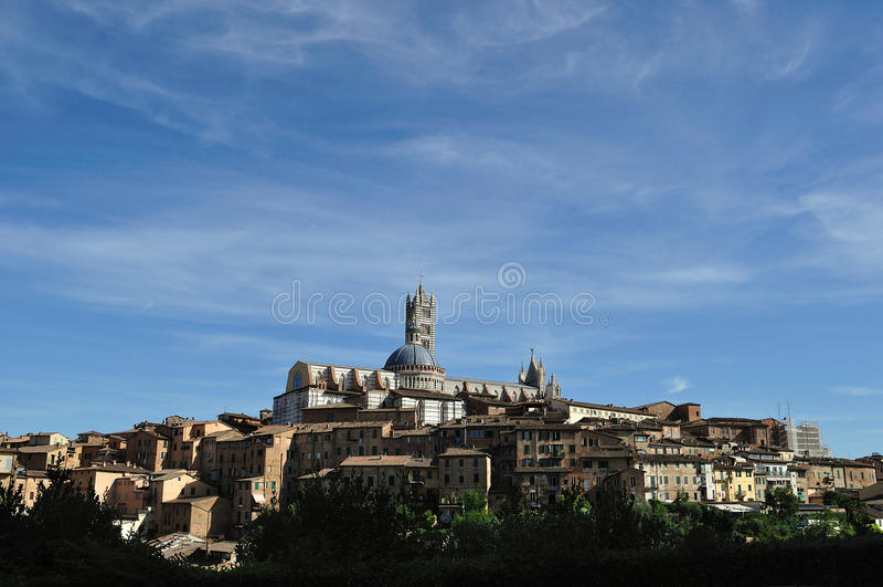 Панорама 2 Сиены Тосканы стоковые изображения