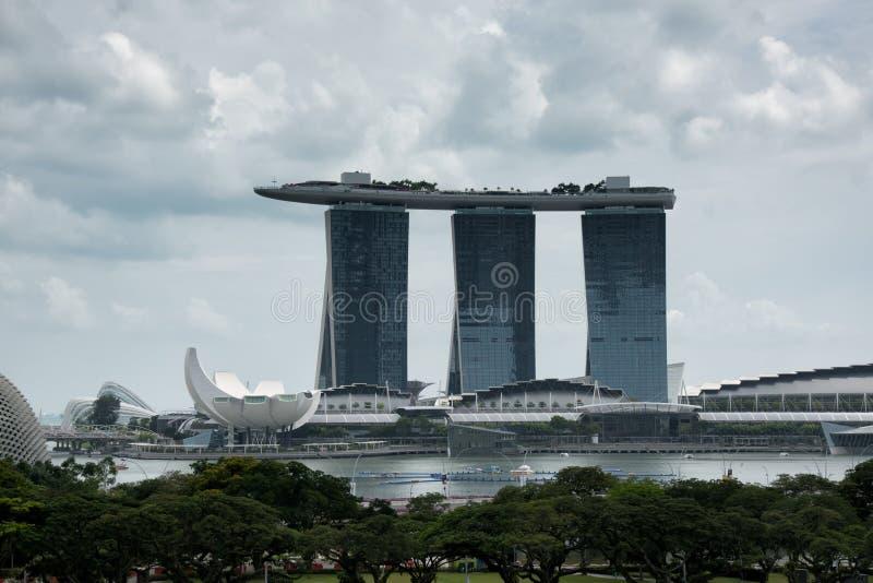 Панорама Сингапура стоковая фотография rf