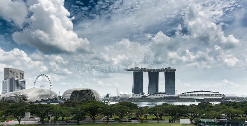 Панорама Сингапура стоковые фото