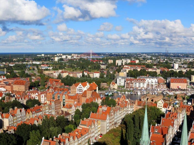 """Панорама старого """"sk GdaÅ стоковая фотография"""