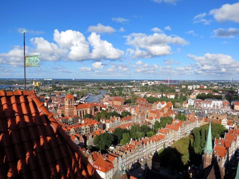 """Панорама старого """"sk GdaÅ стоковое изображение"""