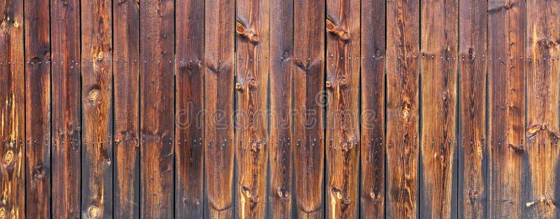 Панорама стены Брауна деревянная стоковая фотография