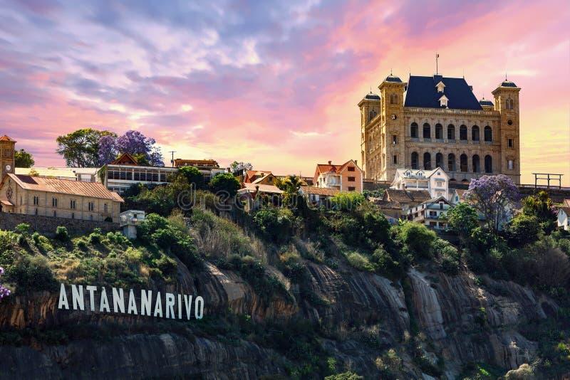 Панорама столицы Антананариву Мадагаскара стоковые фото