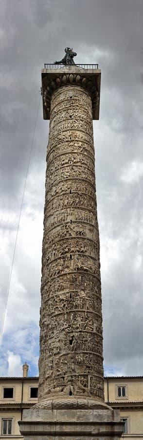 Панорама столбца Trajan Стоковое Изображение RF