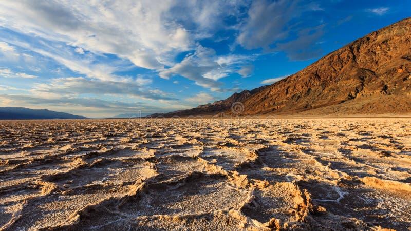 Панорама таза Badwater стоковое изображение rf
