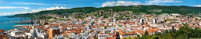 Панорама Триеста в Италии стоковая фотография rf