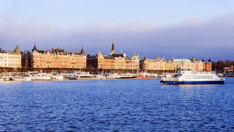 Панорама утра Стокгольма, Швеции стоковая фотография