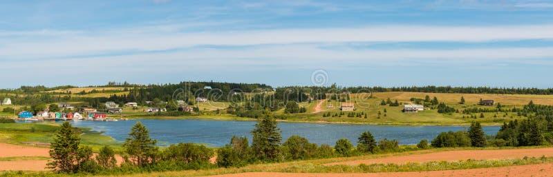 Панорама французского реки стоковые фотографии rf