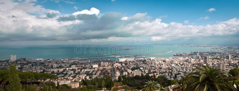 Панорама Хайфа Израиля. стоковые изображения rf