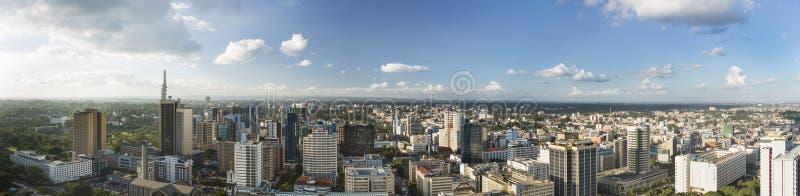 Панорама центра Найроби, Кения стоковое изображение