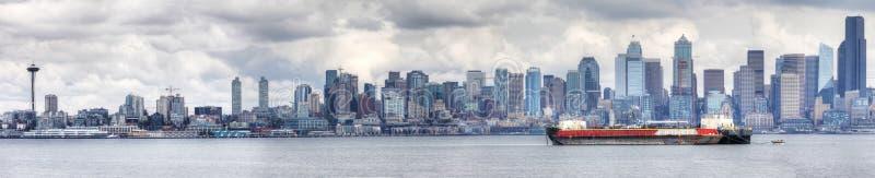 Панорама центр города Сиэтл, Вашингтона стоковые фото