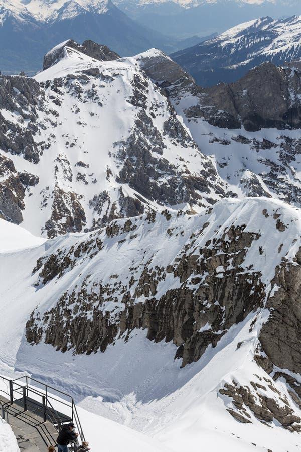 панорама Швейцарии горной цепи стоковое фото rf