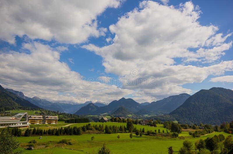 Панорама Altaussee, Австрии стоковое фото
