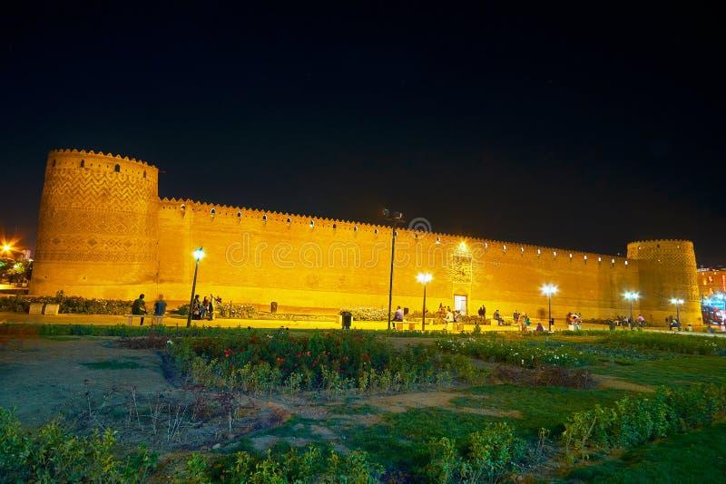 Панорама Arg Karim Khan, Шираза, Ирана стоковая фотография