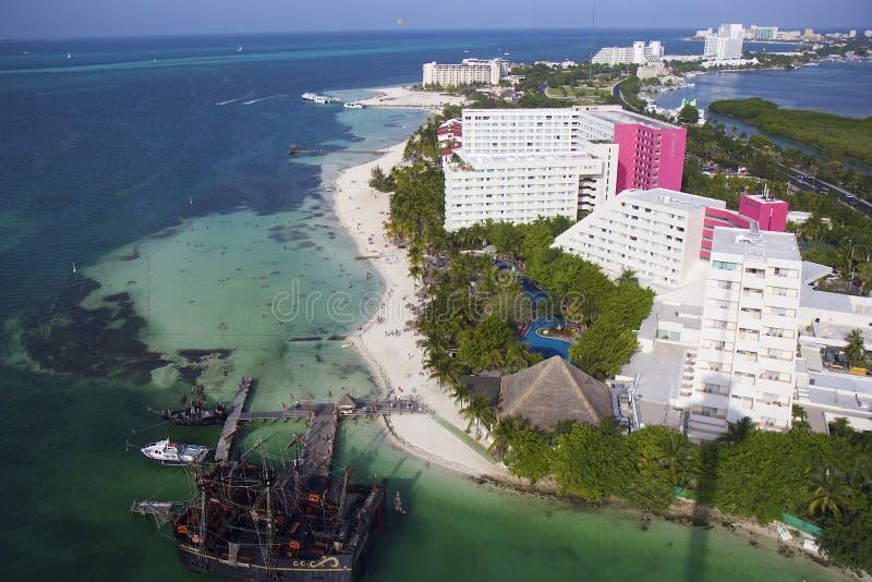 Панорама Cancun, Мексики стоковое изображение rf