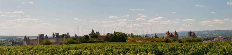 панорама carcasonne стоковое фото rf