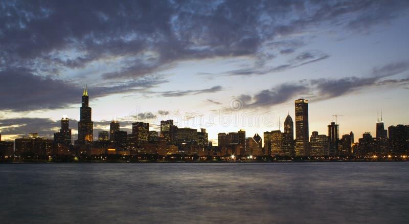 панорама chicago стоковые изображения