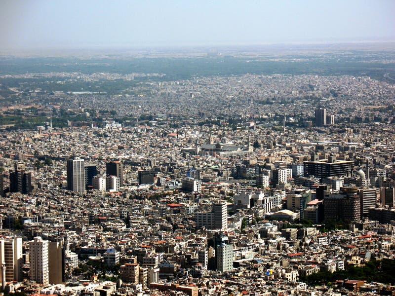 панорама damascus города стоковые изображения