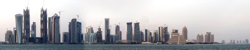 панорама doha стоковые изображения rf