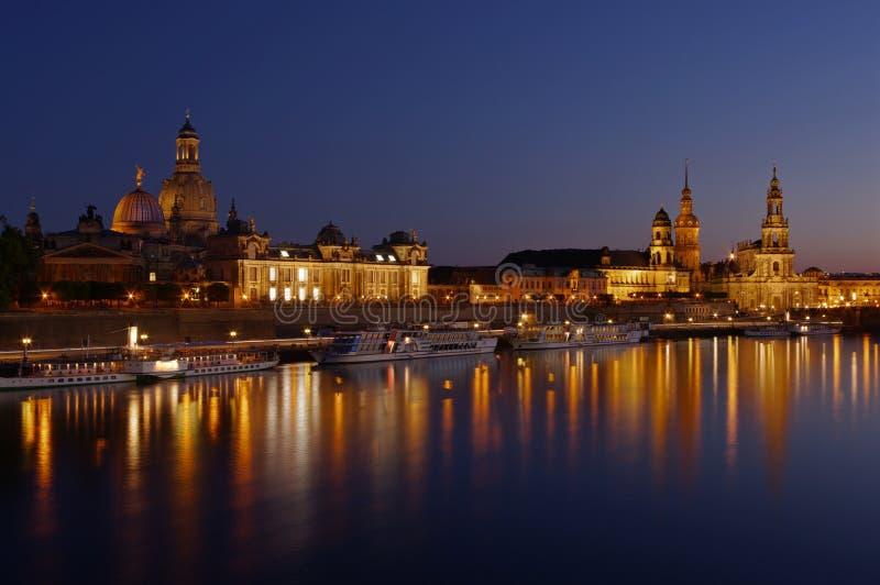 Панорама Dresdan стоковое изображение