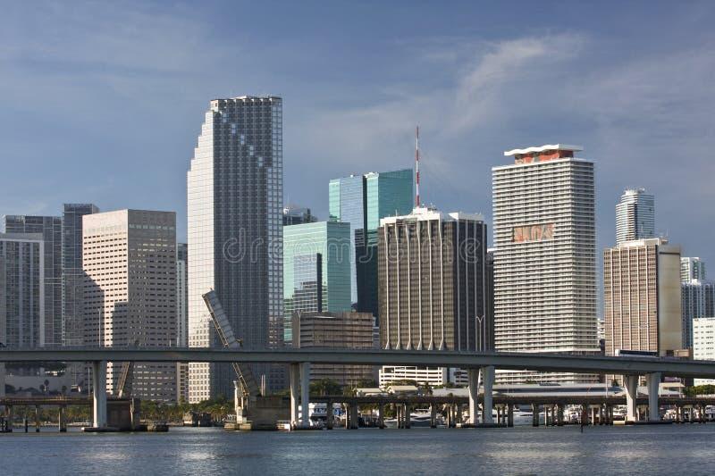панорама florida miami зданий городская стоковая фотография