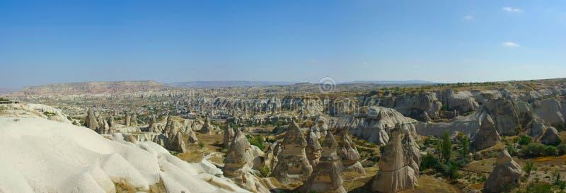 панорама goreme cappadocia стоковое изображение rf