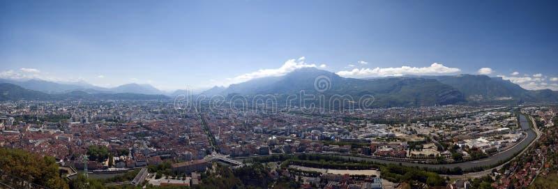панорама grenoble стоковое изображение rf