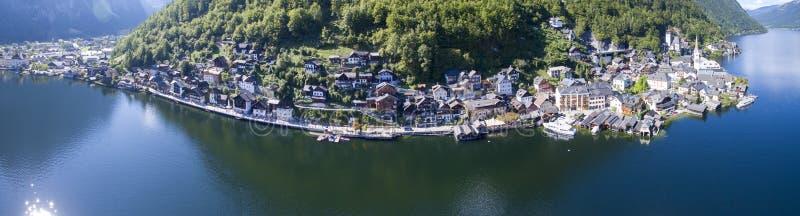 Панорама Hallstatt, Австрия, вид с воздуха  стоковое фото rf