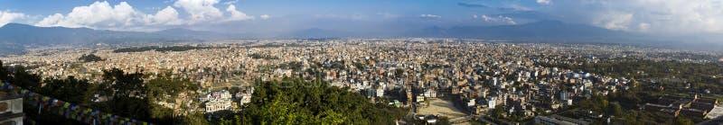 панорама kathmandu стоковые фотографии rf