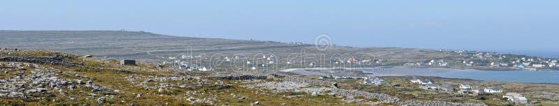 Панорама Kilronan острова Ирландии Aran стоковые изображения
