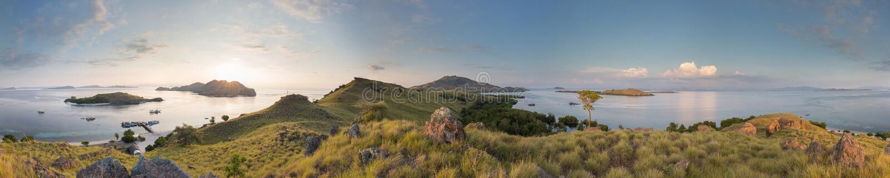 Панорама Komodo стоковые фото