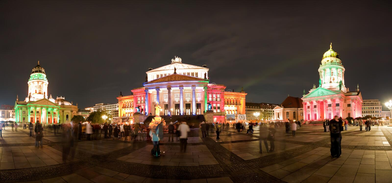 панорама konzerthaus berlin стоковое фото