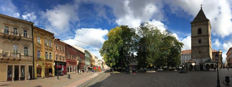 Панорама Kosice городская стоковое изображение rf