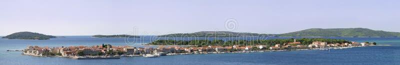 панорама krapanj стоковая фотография rf