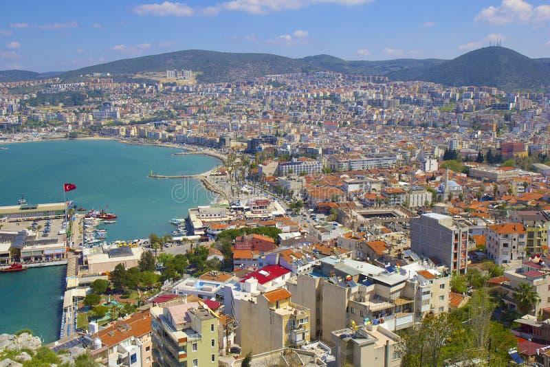 Панорама Kusadasi в Турции стоковое фото rf
