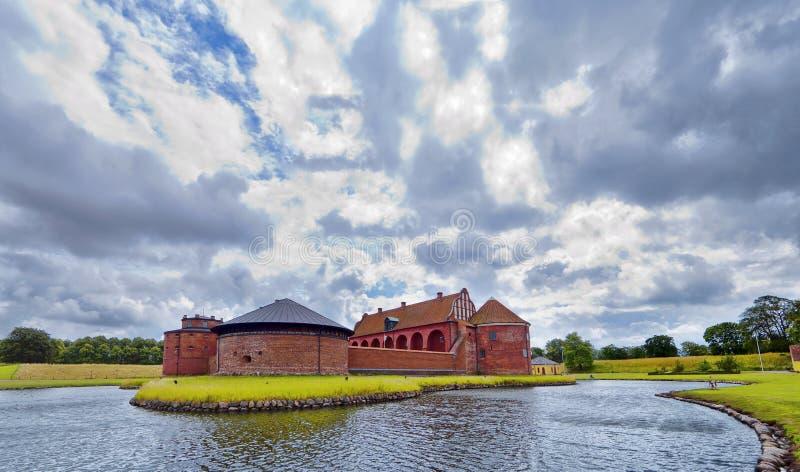 панорама landskrona цитадели стоковая фотография rf